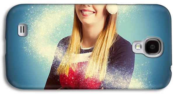 Elf Wrapped Up In The Magic Of Christmas Galaxy S4 Case by Jorgo Photography - Wall Art Gallery