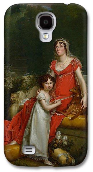 Elisa Bonaparte With Her Daugher Napoleona Baciocchi Galaxy S4 Case by Francois Gerard