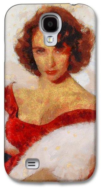 Elizabeth Taylor Actress Galaxy S4 Case by Esoterica Art Agency