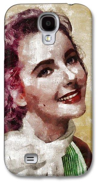 Elizabeth Taylor, Vintage Hollywood Legend By Mary Bassett Galaxy S4 Case by Mary Bassett