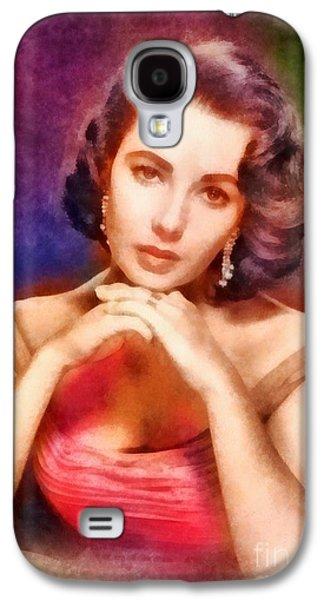 Elizabeth Taylor, Vintage Hollywood Legend Galaxy S4 Case by Frank Falcon