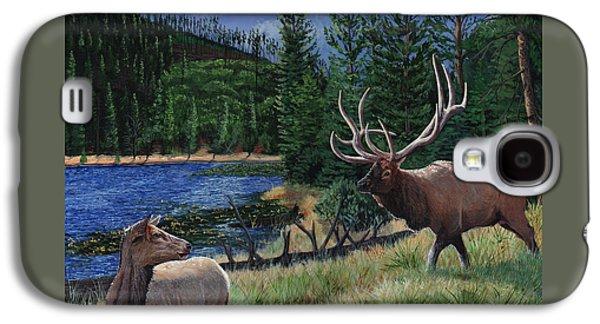 Elk At Beaver Lake  Yellowstone Galaxy S4 Case by Timithy L Gordon