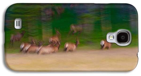 Elk On The Run Galaxy S4 Case by Sebastian Musial