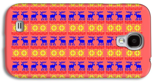 Elk Pattern Changeable Background  Galaxy S4 Case by Sebastien Coell