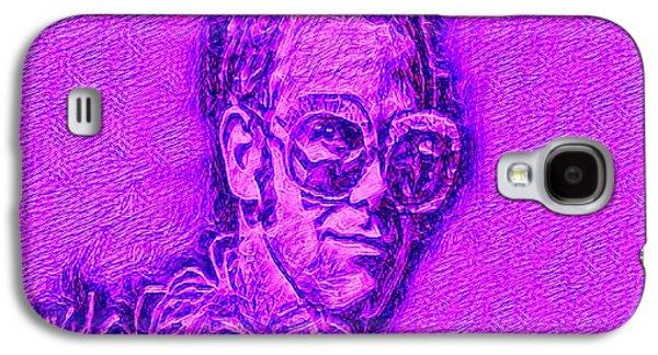 Elton In Purple Galaxy S4 Case by Pd