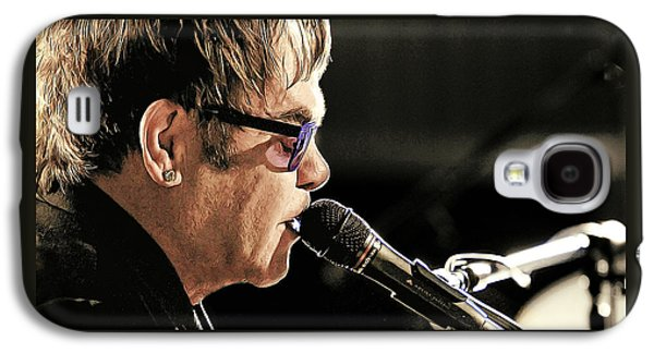 Elton John At The Mic Galaxy S4 Case by Elaine Plesser