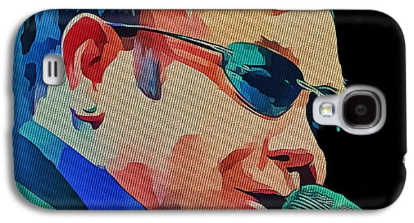 Elton John Blue Eyes Portrait 2 Galaxy S4 Case by Yury Malkov