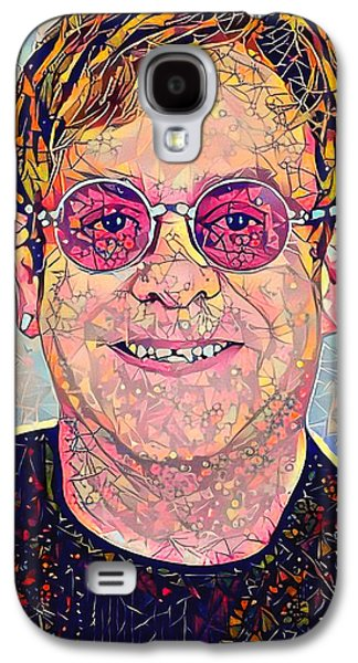 Elton John Triangles Portrait Galaxy S4 Case