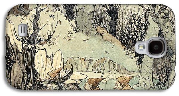 Elves In A Wood Galaxy S4 Case by Arthur Rackham