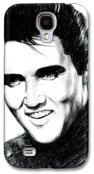 Black Drawings Galaxy S4 Cases - Elvis Galaxy S4 Case by Lin Petershagen