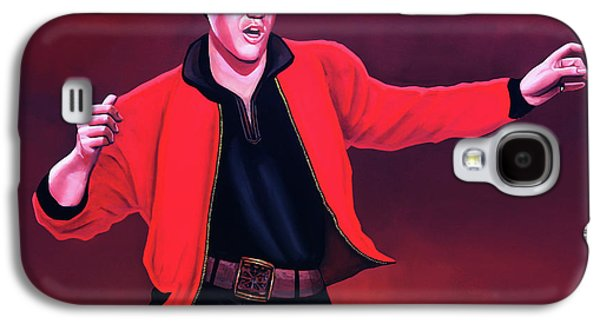Rock And Roll Galaxy S4 Case - Elvis Presley 4 Painting by Paul Meijering