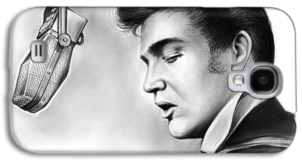 Rock And Roll Galaxy S4 Case - Elvis Presley by Greg Joens