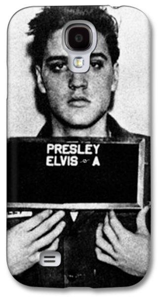 Elvis Presley Galaxy S4 Case - Elvis Presley Mug Shot Vertical 1 by Tony Rubino