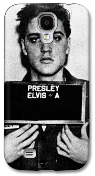 Elvis Presley Mug Shot Vertical 1 Galaxy S4 Case by Tony Rubino