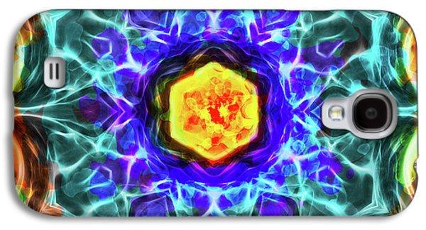 Emerald Circle Mandala Galaxy S4 Case