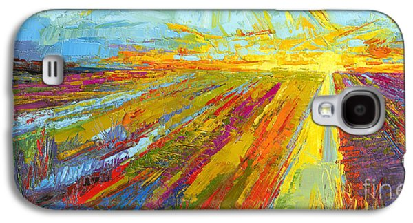 Emerald Dreams Modern Impressionist Oil Painting  Galaxy S4 Case