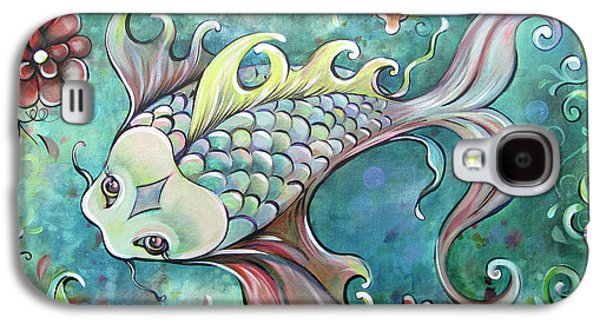 Emerald Koi Galaxy S4 Case by Shadia Derbyshire