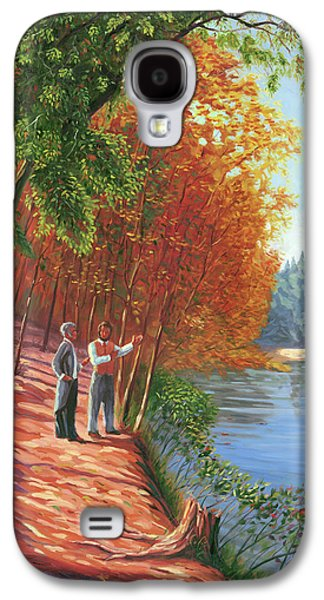 Emerson And Thoreau At Walden Pond Galaxy S4 Case