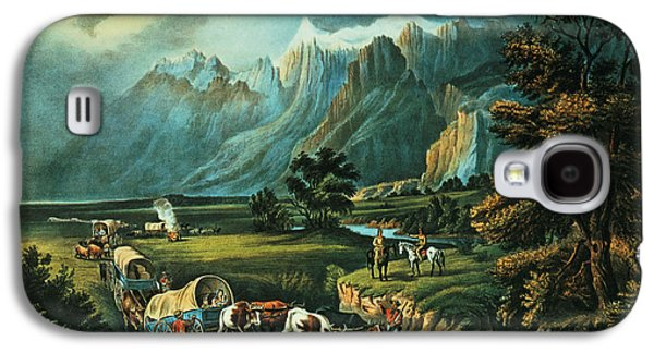 Emigrants Crossing The Plains Galaxy S4 Case by Currier and Ives