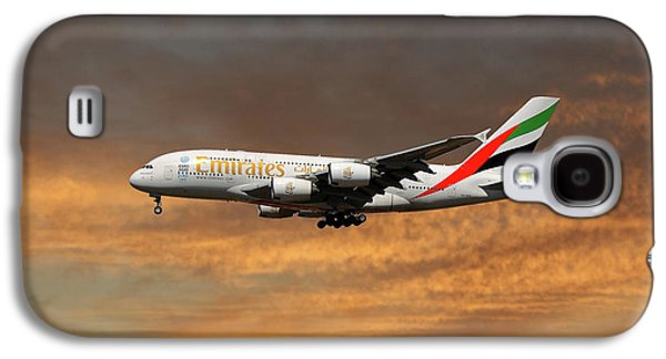 Jet Galaxy S4 Case - Emirates Airbus A380-861 3 by Smart Aviation