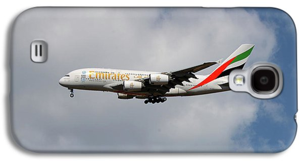 Jet Galaxy S4 Case - Emirates Airbus A380-861 5 by Smart Aviation