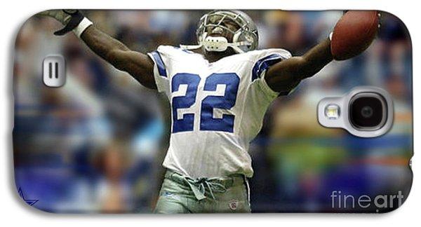 Emmitt Smith, Number 22, Running Back, Dallas Cowboys Galaxy S4 Case