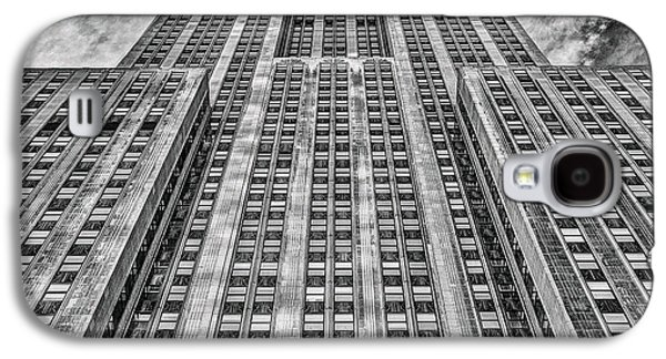 Long Street Galaxy S4 Cases - Empire State Building Black and White Square Format Galaxy S4 Case by John Farnan