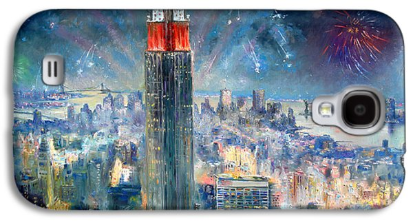 Empire State Building In 4th Of July Galaxy S4 Case by Ylli Haruni