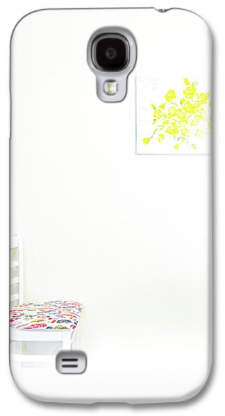 Empty Chair With Yellow Roses Galaxy S4 Case