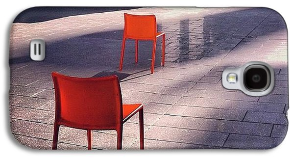 Light Galaxy S4 Case - Empty Chairs At Mint Plaza by Julie Gebhardt