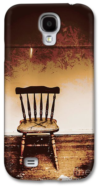 Empty Wooden Chair With Cross Sign Galaxy S4 Case by Jorgo Photography - Wall Art Gallery