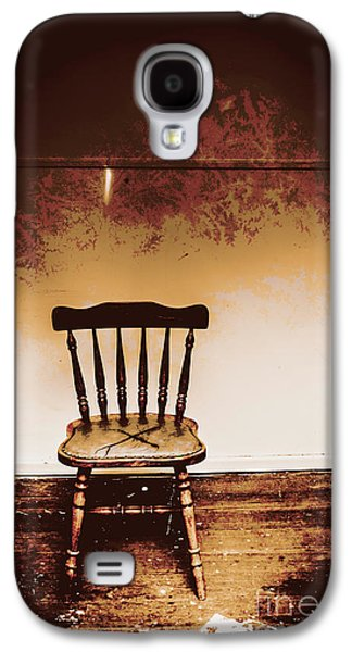 Empty Wooden Chair With Cross Sign Galaxy S4 Case