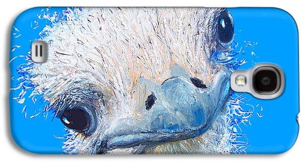 Emu Painting Galaxy S4 Case by Jan Matson
