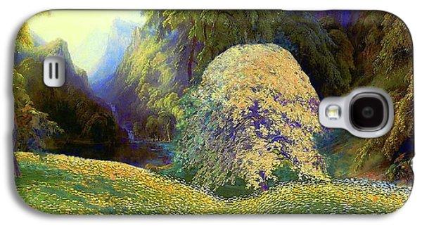 Enchanted By Daisies, Modern Impressionism, Wildflowers, Silver Birch, Aspen Galaxy S4 Case