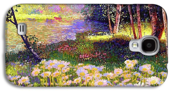 Enchanted By Daisies, Modern Impressionism, Wildflowers, Silver Birch, Aspen Galaxy S4 Case