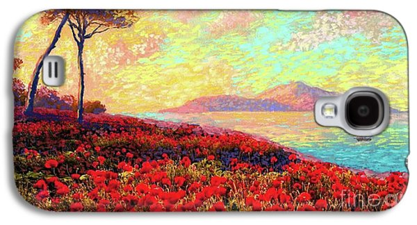 Peach Galaxy S4 Case - Enchanted By Poppies by Jane Small