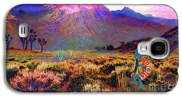 Magician Galaxy S4 Case - Enchanted Kokopelli Dawn by Jane Small