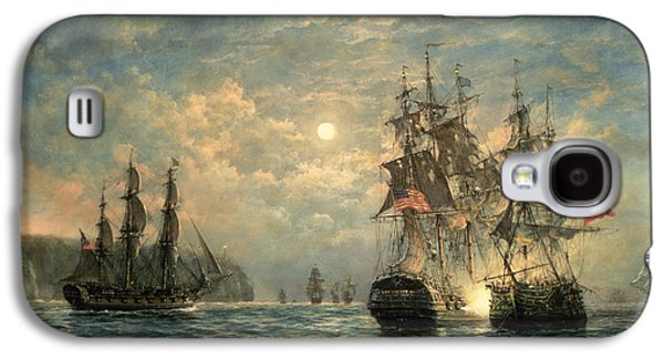 Recently Sold -  - Sun Galaxy S4 Cases - Engagement Between the Bonhomme Richard and the  Serapis off Flamborough Head Galaxy S4 Case by Richard Willis