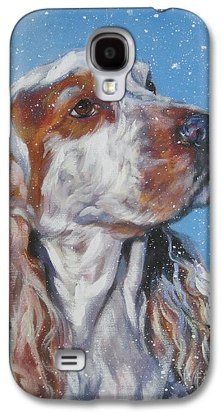 English Cocker Spaniel In Snow Galaxy S4 Case by Lee Ann Shepard