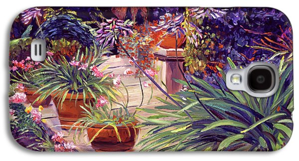 English Estate Patio Garden Galaxy S4 Case by David Lloyd Glover