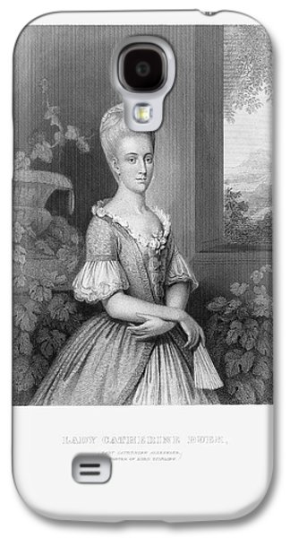 Engraved Portrait Of Lady Catherine Duer, Circa 1780 Galaxy S4 Case by Craig McCausland