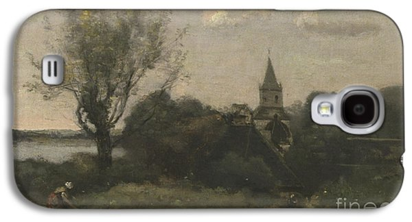 Ennery Near Auvers Galaxy S4 Case by Jean Baptiste Camille Corot