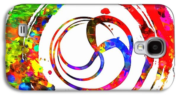 Enso Colorful Paint Circle Galaxy S4 Case by Dan Sproul