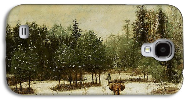 Entrance To The Forest In Winter Galaxy S4 Case by Cherubino Pata