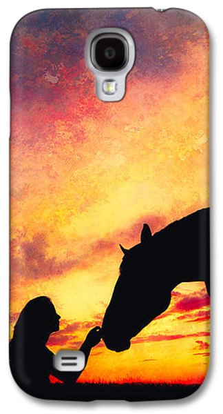 Equine Sunset Galaxy S4 Case by Debi Bishop