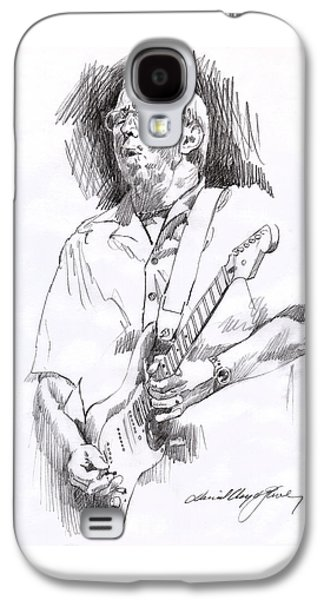 Eric Clapton Blue Galaxy S4 Case by David Lloyd Glover