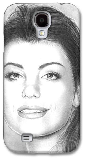 Erica Durance Galaxy S4 Case by Greg Joens