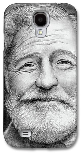 Ernest Hemingway Galaxy S4 Case by Greg Joens