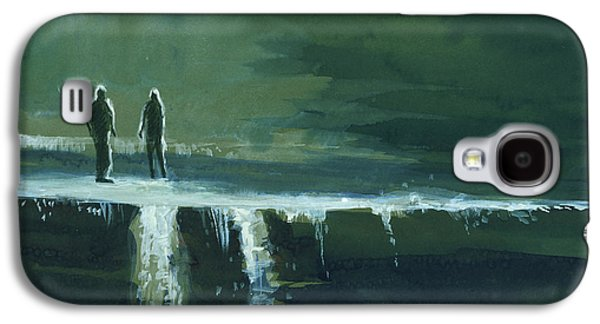 Beautiful Creek Paintings Galaxy S4 Cases - Escape Galaxy S4 Case by Anil Nene