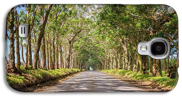 Travel Galaxy S4 Case - Eucalyptus Tree Tunnel - Kauai Hawaii by Brian Harig